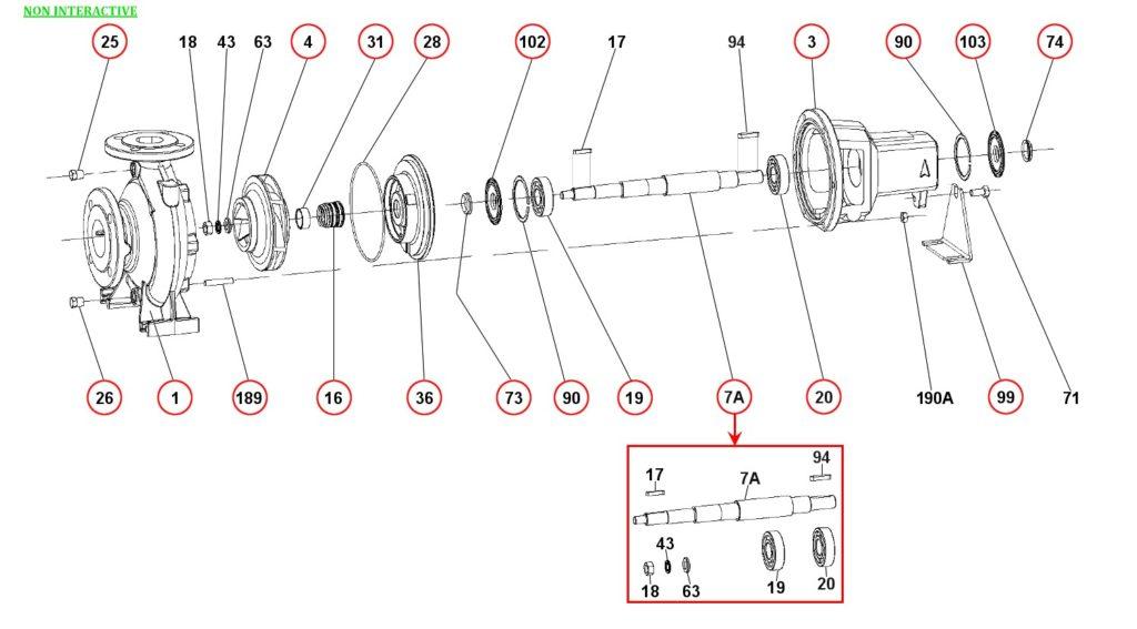 Ремонт и запасные части для насоса DAB KDN40-125.1