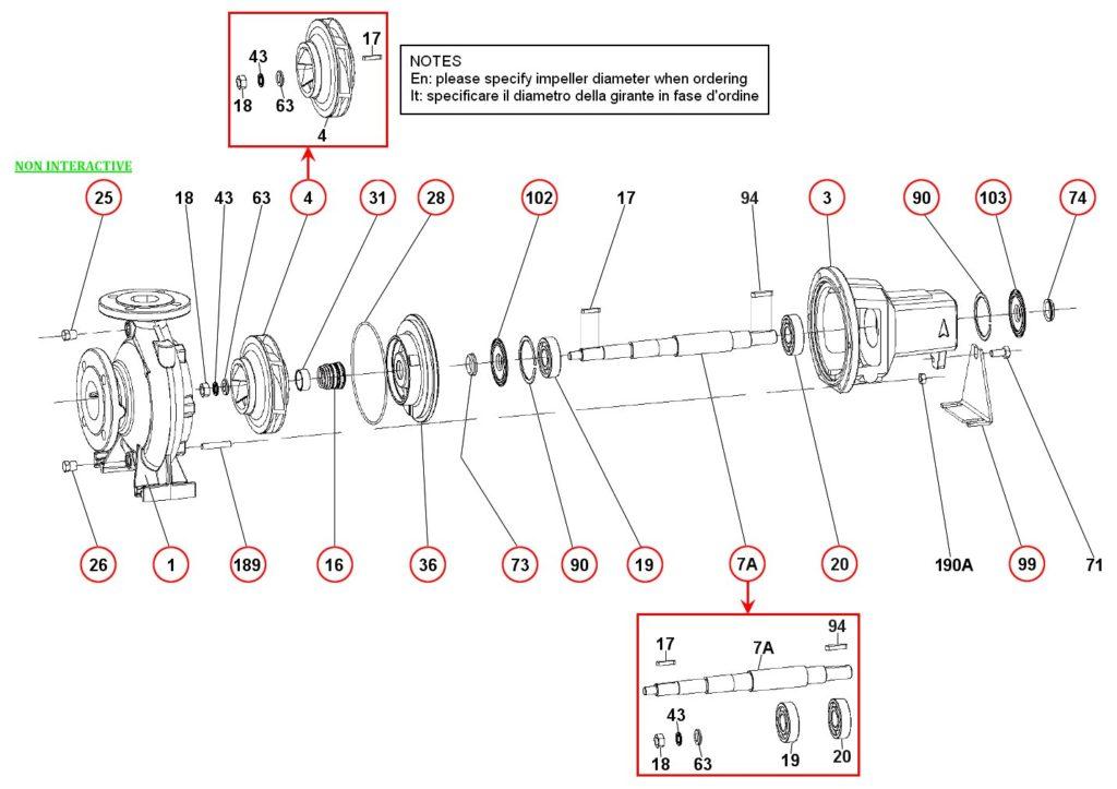 Ремонт и запасные части для насоса DAB KDN80-200