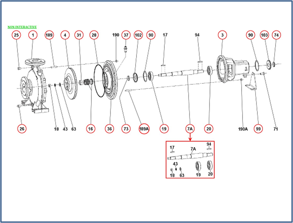 Запасные части для насоса DAB KDN_100-250