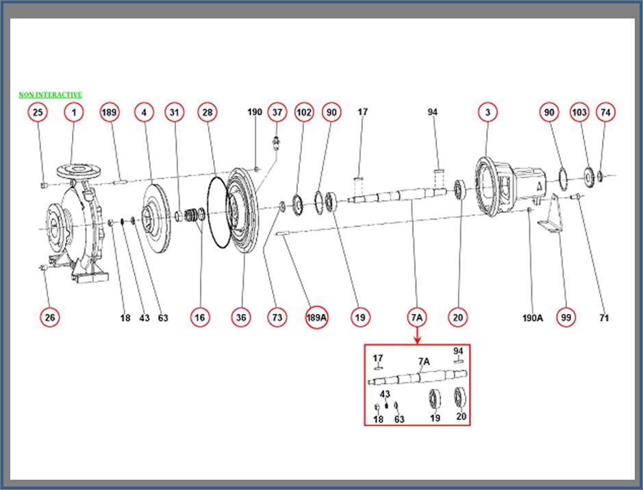 Запасные части для насоса DAB KDN_125-250_1D7411000