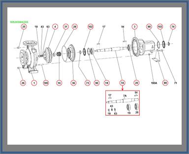 Запасные части для насоса DAB KDN_150-200_1D8311000