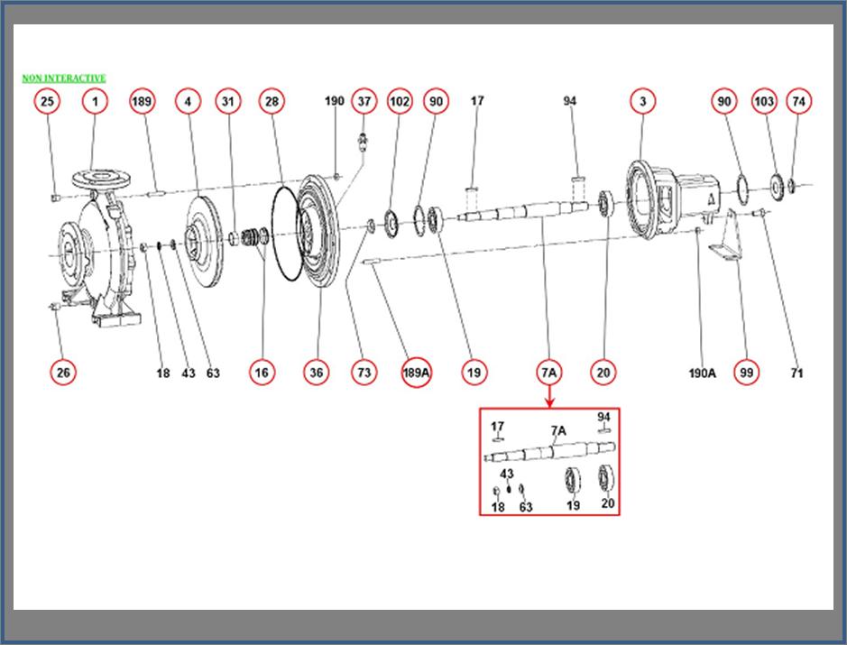 Запасные части для насоса DAB KDN_50-200
