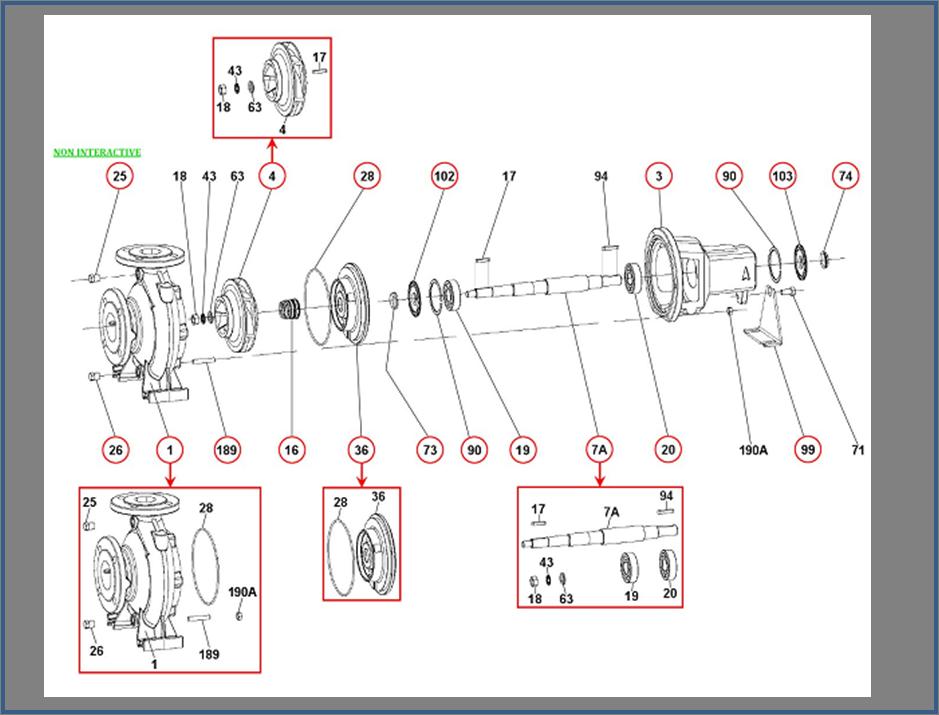 Запасные части для насоса DAB KDN_50-250