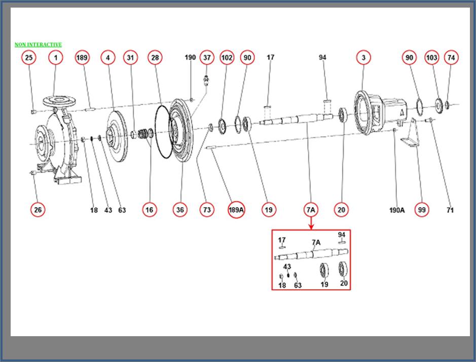Запасные части для насоса DAB KDN_80-250