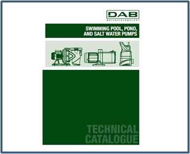Каталог DAB насосы для бассейнов, прудов и соленой воды