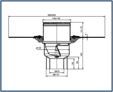 Трап для балконов и террас HL3100TH