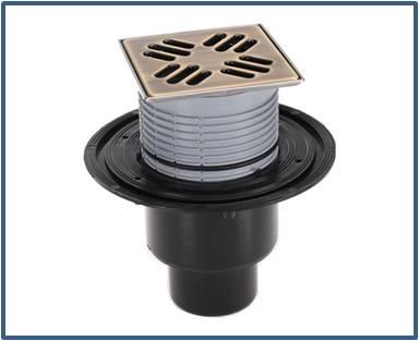 Трап для внутренних помещений HL310N-3000.31 с решеткой HL037Pr.31E — Светлая бронза