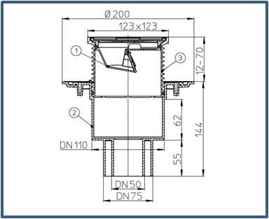 Трап для балконов и террас HL310N.2