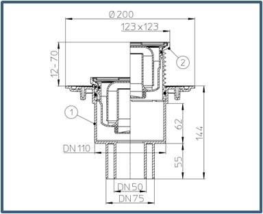 Трап для внутренних помещений HL310N