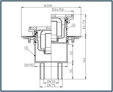 Трап для подвалов и технических помещений HL310NG
