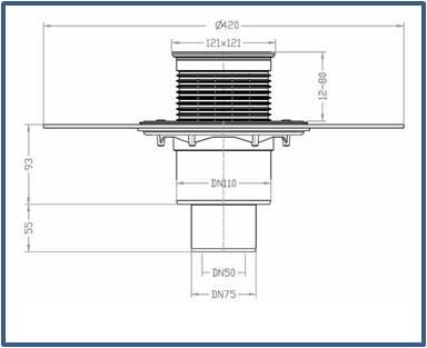 Трап для внутренних помещений HL310NH-3000