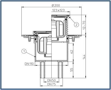 Трап для внутренних помещений HL310NPr