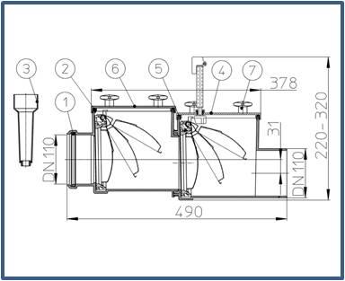 Механический канализационный затвор HL710.2