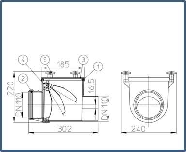 Механический канализационный затвор HL710