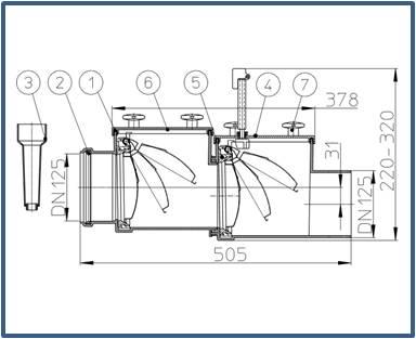 Механический канализационный затвор HL712.2