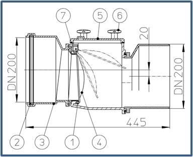 Механический канализационный затвор HL720
