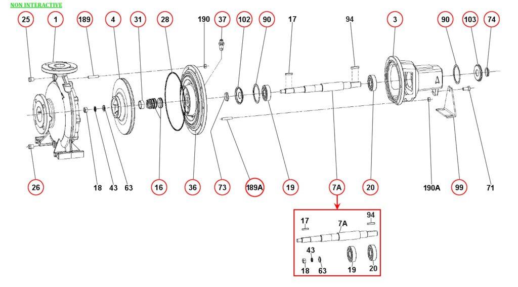 Ремонт и запасные части для насоса DAB KDN125-250