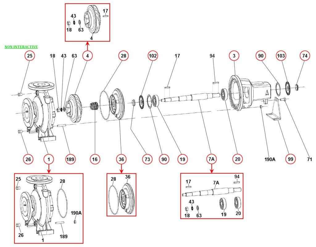 Ремонт и запасные части для насоса DAB KDN50-250