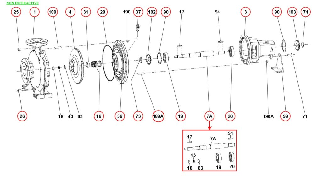 Ремонт и запасные части для насоса DAB KDN65-250