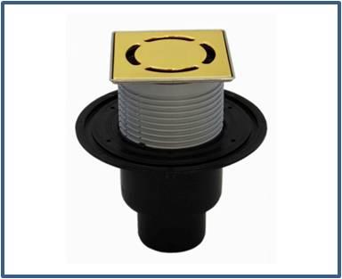 Трап для внутренних помещений HL310N-3000.32 с решеткой HL037Pr.32E — Бронза